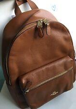 *NWT* Coach Pebble Leather Charlie Backpack Large F38288 Saddle