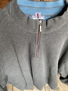 TOMMY BAHAMA Reversible Quarter Zip Sweater Long Sleeve Men's 5XB 5XL