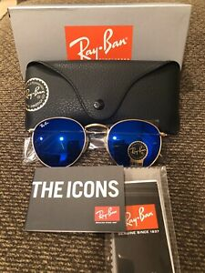 New Authentic Ray-Ban Round Metal RB3447