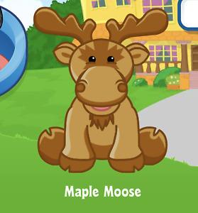 Webkinz Maple Moose Virtual PET Adoption Code Only Messaged Webkinz Cute Moose!!