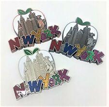 New York Skyline and Big Apple Souvenir Magnets, set of 3