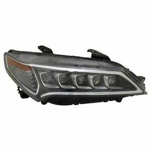 FITS FOR ACURA TLX 2015 2016 2017 HEADLIGHT W/LED RIGHT PASSENGER