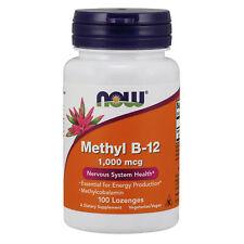 NOW Foods Methyl Vitamin B12 1000mcg 100 Lozenges | Antioxidant Nerves Support
