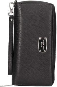 Michael Kors Jet Set Item Black Travel Continental Leather Wallet