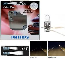 Philips VIsion Plus 60% H3 55W Two Bulbs DRL Daytime Light Cornering Upgrade OE