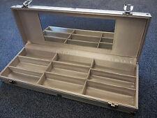 4-Slot Aluminium Koffer Geschenkidee Brillenkiste Alu mit Spiegel