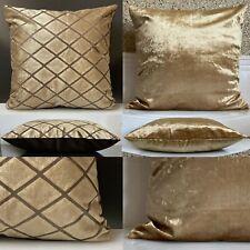 "Large Cushions cover or filled cushion Velour Velvet Mustard Gold 21""x21"""