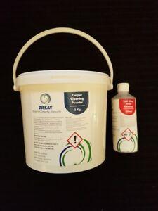 5kg carpet shampoo powder makes 750lts + 500ml red wine remover