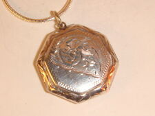 Vintage Sterling Silver  Locket  & Chain