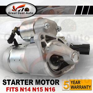 Starter Motor fits Nissan Pulsar N14 N15 N16 1.6L GA16DE 1.8L QG18DE 1991-2005