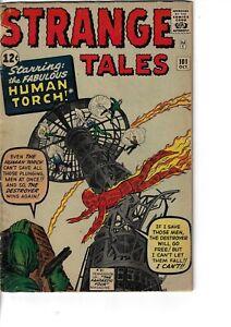Strange Tales 101 Human Torch Begins VG- 1962 Glossy Kirby