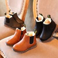 Enfants Filles Garçon Snow Warm Ankle Boots Zipper Hiver Neige Bottes chaussures