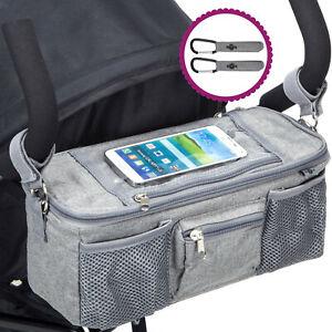 BTR Pram Buggy Organiser Pam Caddy Bag wiht Zipped Lid and Phone Pocket