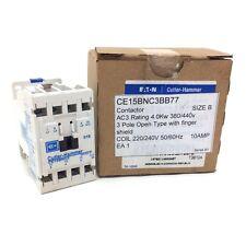 Cutler-hammer Contactor CE15BNC3BB77 220-240VAC 4kW CE15BNC3-BB77