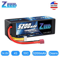 5200mAh 4S 14.8V 50C LiPo Battery Deans Plug for RC Car Boat Truck Helicopter