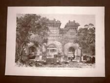 Pechino nel 1863 Il Tempio di Confucio Lato dei giardini Cina
