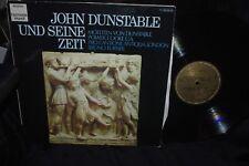 JOHN DUNSTABLE Und Seine Zeit HARMONIA MUNDI AUDIOPHILE LP