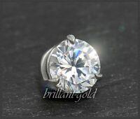 Brillant 585 Gold Damen Anhänger 1,10ct, Top Wesselton; Diamant Gleiter Weißgold