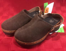 Croc's Cobbler Brown Suede Gold Studded Clogs Girls Size 10/11