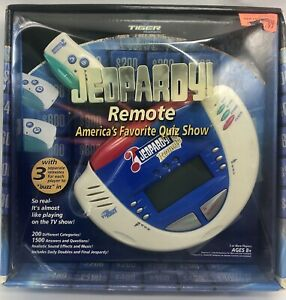 Remote Jeopardy Tiger Electronic Handheld Game 1500 Questions Hasbro 2002