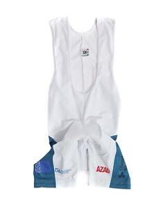 Mens SMS Santini Cycling Bin Shorts White & Blue Gel Intech Size M