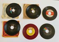 6 45rpm Records-Elton John, Sajid Khan, Gale Storm, David Hill, Bobby Vee (#215)