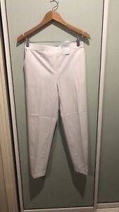 SUZANNE GRAE NWT $49.95 * White Ankle Tapered Pants Size 12