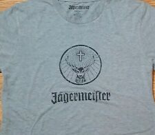 Jagermeister t-shirt (Large) Gray Color with Black Logo on Front