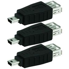3 Pcs USB Type A Female to USB Mini B Male 5-Pin Adapter Connector PC Camera