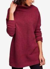 sz S NWT Free People Plum Purple Ribbed Ottoman Slouchy Tunic Sweater