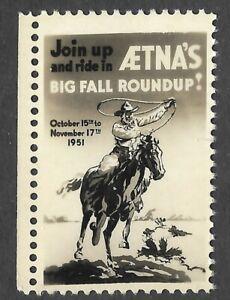 Aetna's Big Fall Roundup 1951 - High Gloss Face like Photo - Horse - Cowboy
