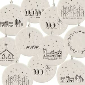 Christmas Bauble Porcelain Decoration | East Of India Festive Hanging Gifts