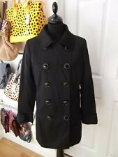 Size 12 Black Jacket by New Look Double Breasted Smart Blazer Look Button Up