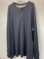 Northwest Territory Thermal Waffle Knit Henley Long Sleeve Big Tall Mens 3XLT