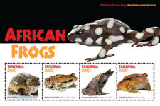 Tanzania 2015 - African Frogs - Sheet of 4 Stamps - MNH