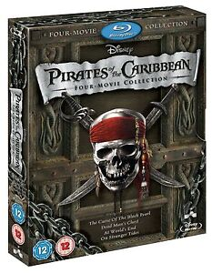 Pirates of the Caribbean: Four-Movie Collection (Blu-ray) - Free Shipping