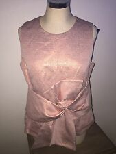 Cue pink blush bow top size 10 BNWT