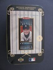 1995 MICKEY MANTLE UD LIMITED EDITION NY YANKEES BASEBALL CARDS W/ TIN