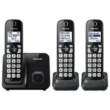 Panasonic Expandable Cordless Phone with 3 Handsets in Black, KX-TGD513