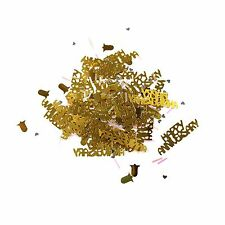 Golden Happy Anniversary Table Confetti Party Decoration - Gold / Bells 14g