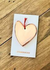 """LOVE Ceramic Ornament Heart 2017 Flat Tag 2.75/"""" x 1.5/"""" Starbucks PEACE"""