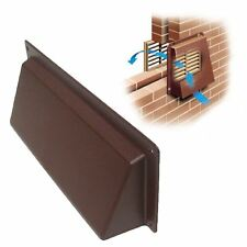 """9"""" x 3"""" Brown Hooded Cowl Vent Cover for Air Bricks Grilles Extractors Vents"""