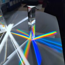 Crystal Prism 30*30*150mm Optical Glass Triangular Prism Spectrum Photography