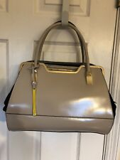 Cromia Genuine Leather  Suede Golden Hardware New Satchel Bag  Made In Italy