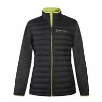 Free Country Boys' Black/Neon Hybrid Down & Knit Jacket - Size Small(7/8)