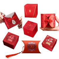 100Pcs Chinese Symbol Red Gift Box Wedding Candy Boxes
