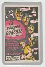 2006 Spanish Pocket Calendar House of Dracula Lon Chaney John Carradine