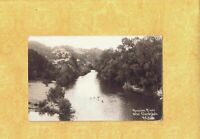 CA Near Cloverdale 1946 RPPC real photo postcard PEOPLE IN RUSSIAN RIVER