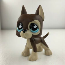 Hasbro Lps 817 Littlest Pet Shop Chocolate Great Dane Dog Blue Star Eyes Puppy