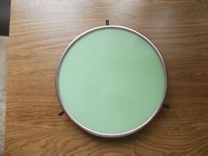Drehbare Tortenplatte ø 27 cm runde DDR Platte grüne Kuchenplatte einfarbig top!